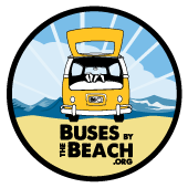 Buses by the Beach Retina Logo